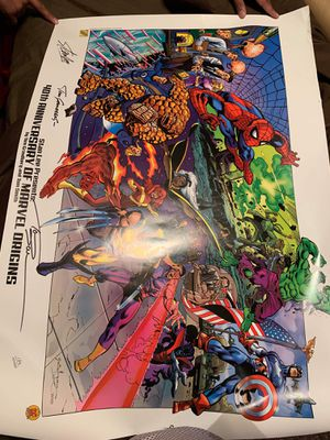 Stan Lee presents 40th anniversary marvel origins poster for Sale in Laredo, TX