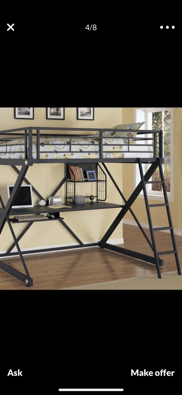 Loft study bunk bed with desk chair . Homes near by I'll deliver( FREE OF CHARGE )