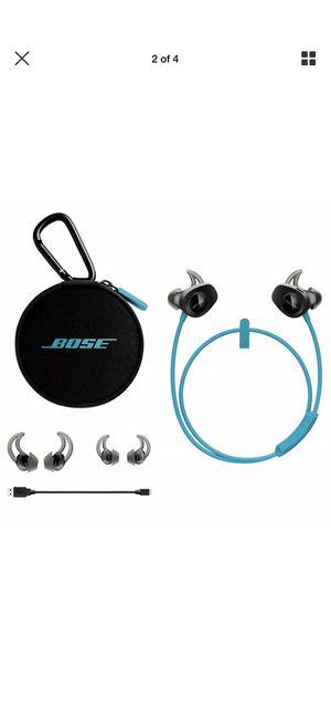 Bose blue Soundsport Bluetooth wireless earbuds for Sale in Fort Lauderdale, FL