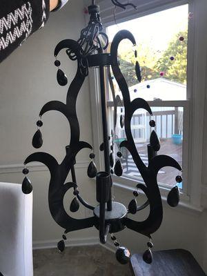 Black 3-bulb small chandelier for Sale in Chesapeake, VA