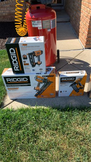 Three set ridgid nail gun for Sale in Sterling Heights, MI