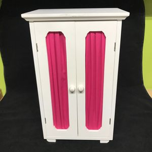 "Doll Furniture White Armoire 18"" X 11"" X 8"" for Sale in Ridgefield, CT"