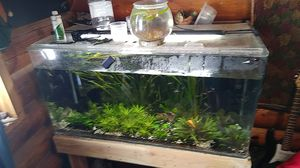90 gallon acrylic Aquarium with a refugium in the back. I'm selling the tank by itself the light, filter, and decor separate for Sale in Herriman, UT