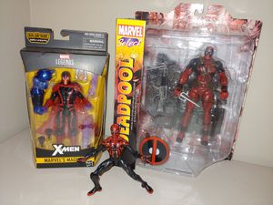 3 Action Figures - Marvel Legends Superior Spider-Man, Magneto, & Deadpool Marvel Select Action Figures for Sale in Alexandria, VA