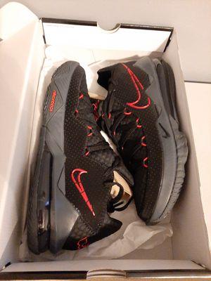 Nike LeBron 17 XVII Men's Basketball Shoes Black Red BRED Size 10.5 for Sale in Alexandria, VA
