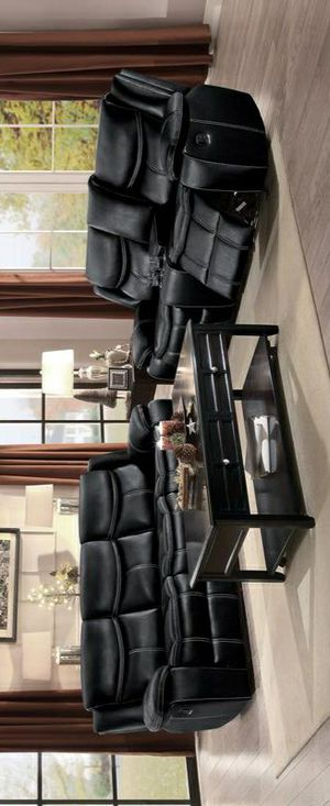 🍾🍾 Best Offer ‼ Bastrop Black Leather Gel Reclining Living Room Set 116 for Sale in Jessup, MD
