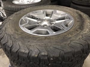 """17"""" Jeep Rubicon factory wheels and tires for Sale in San Diego, CA"""