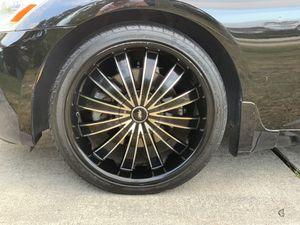 Ave black and chrome wheels/rims for trade for Sale in Deltona, FL