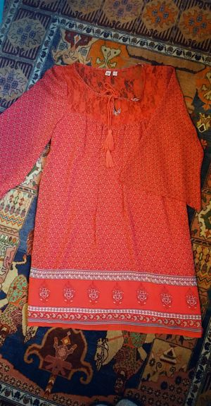 Red boho printed tunic dress for Sale in Albany, CA