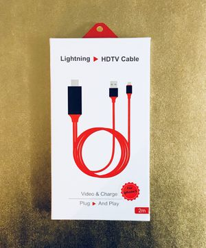HDMI To Apple Lightning Cable TV iPhone 📱 or IPad! Pickup Or shipped out for Sale in Elizabeth, NJ
