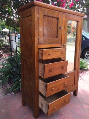 Antique Armoire Dresser Wardrobe Mirror for Sale in Los Angeles, CA