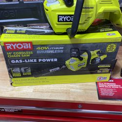 RYOBI RY40530 14 in 40-Volt Brushless Lithium-Ion Cordless Chainsaw for Sale in Miami,  FL