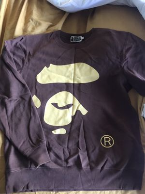 A bathing ape crew neck sweatshirt brown large for Sale in Los Angeles, CA