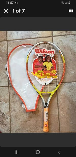 """NEW Wilson Youth Tennis Racket Venus and Serena Williams with Cover 3 5/8"""" Grip for Sale in Fuquay-Varina, NC"""
