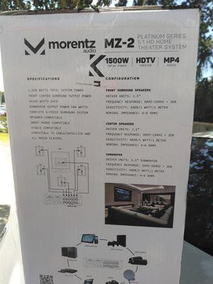 Morentz audio home theater for Sale in Bradenton, FL