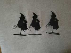 3 piece iron witch tea light candle holders for Sale in Whittier, CA