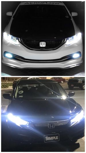 Ready for pick up led headlights or fog lights for ALL cars $25 & FREE license plate led for Sale in Commerce, CA