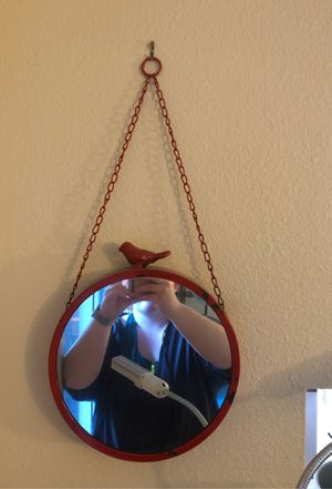 Red hanging mirror for Sale in Kenmore, WA