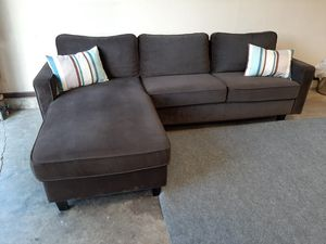 Gorgeous brown small sectional couch for Sale in Renton, WA