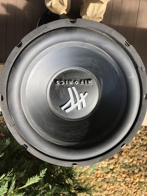 """Hifonics 800w 12"""" subwoofer BOX INCLUDED for Sale in Greensburg, PA"""