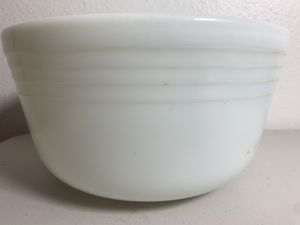 Pyrex Milk Glass Large 8.5 Inch 1950's Mixing Bowl Made in USA MCM for Sale in Beaverton, OR