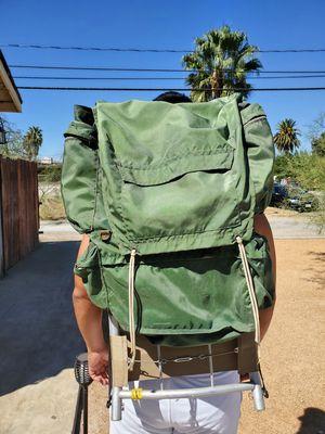 Vintage Light Weight Aluminum Frame Nylon Hiking Backpack for Sale in San Bernardino, CA