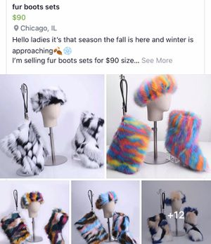 Fur boots sets for Sale in Chicago, IL