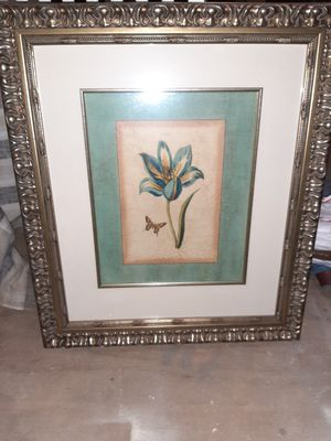 Framed Art Framed Design H/C Spa Blue Tulips(Bookman) OWP3128295 for Sale in Appomattox, VA