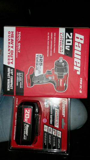 """BRAND NEW BAUER 3/8"""" COMPACT IMPACT WRENCH WITH 3.0 BATTERY for Sale in San Antonio, TX"""