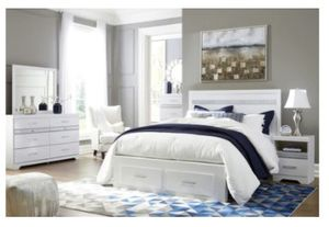New 4pc. White queen Ashley Bedroom Set for Sale in Austin, TX