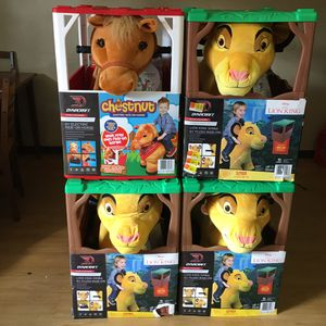 6 Volt Stable Lion king /Buddies Chestnut Horse Plush Ride-On by Dynacraft with Removable Bandana and Play Stable Included! for Sale in Columbus, OH