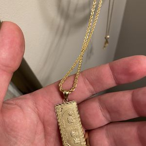 14k Rope Chain Wit Pendant for Sale in Cambridge, MA