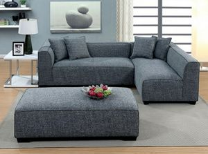 Modern grey sofa sectional couch/No Credit Needed No Credit Check for Sale in Downey, CA