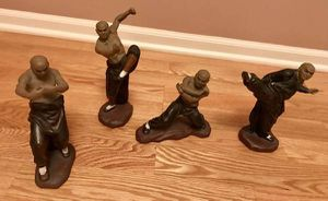 4 Vintage Ceramic Kung Fu Masters Karate Figurines Statues. Collectibles. for Sale in Chicago, IL