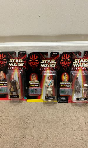 Collection Star Wars episode 1 figurines for Sale in Seabrook, TX