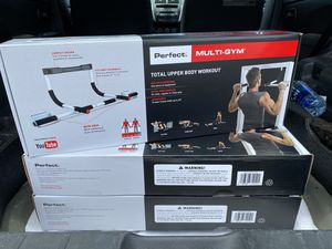 Perfect Fitness Multi-Gym Doorway Pull Up Bar Portable Gym System *BRAND NEW* UNOPENED for Sale in Kissimmee, FL