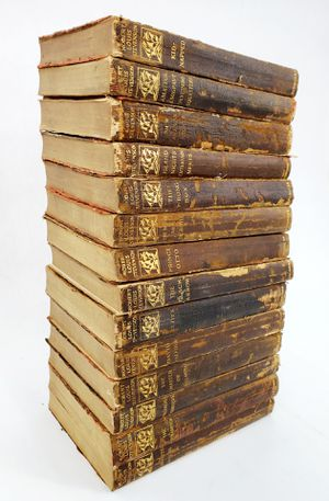 14 Works of Robert Louis Stevenson - Softcover Leather Bound - Copyright 1912 - New York for Sale in Trenton, NJ