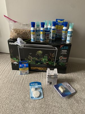 Fluval Spec 5 gallon tank and EVERYTHING needed! All you need to do is buy fishes! for Sale in Galena, OH