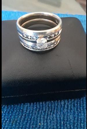 Wedding Ring 10k white gold set for Sale in Hesperia, CA