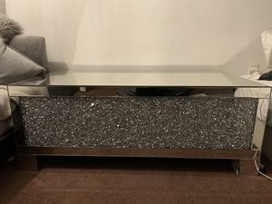 Clear sparkly mirror coffee table for Sale in Oakland, CA