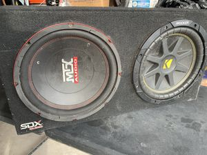 "Speaker box 10"" subwoofers for Sale in Lubbock, TX"