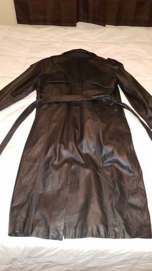 Leather trench coat for Sale in Glendora, CA