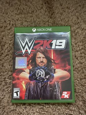 XBOX One WWE 2K19 for Sale in Beaufort, SC