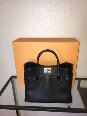 LV purse black with black velvet logo on both side for Sale in Seal Beach, CA