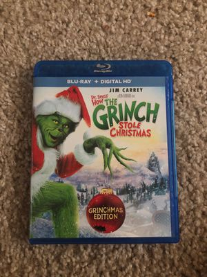 Blu-Ray ONLY How the Grinch Stole Christmas for Sale in Federal Way, WA