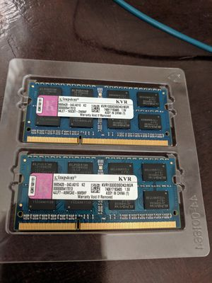 MacBook pro memory early 2011, 8GB, 1333Mhz for Sale in Sacramento, CA