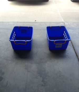 2 storage bins with wheels for Sale in Macomb, MI
