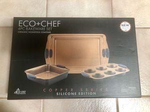 Eco+Chef 4PC Bakeware Set - Brand New, In Box - Copper Series / Silicone Edition - Baking!! for Sale in Huntington Beach, CA