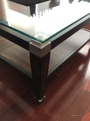 Luxury Coffee table ! minor damage & scratches on bottom leg for Sale in Philadelphia, PA