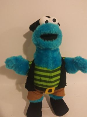 "Nanco Sesame Street Cookie Monster Pirate 14"" Plush Soft Toy Stuffed Animal for Sale in Dewey, AZ"